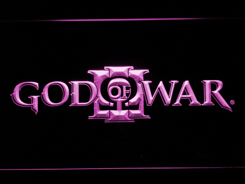 Image of God of War 3 LED Neon Sign - Purple - SafeSpecial