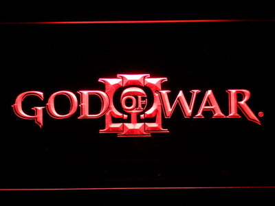 God of War 3 LED Neon Sign - Red - SafeSpecial