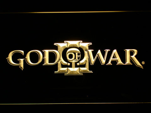 Image of God of War 3 LED Neon Sign - Yellow - SafeSpecial