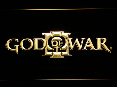 God of War 3 LED Neon Sign - Yellow - SafeSpecial