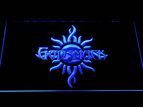 Image of Godsmack Sun Logo LED Neon Sign - Blue - SafeSpecial