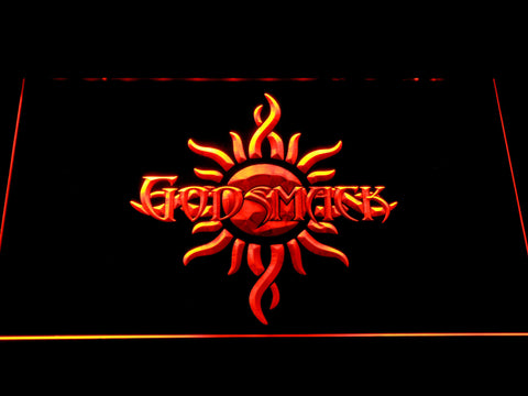 Image of Godsmack Sun Logo LED Neon Sign - Orange - SafeSpecial