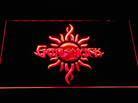 Image of Godsmack Sun Logo LED Neon Sign - Red - SafeSpecial
