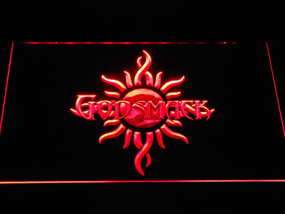 Godsmack Sun Logo LED Neon Sign - Red - SafeSpecial