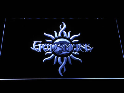 Godsmack Sun Logo LED Neon Sign - White - SafeSpecial