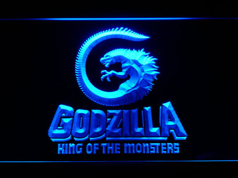 Image of Godzilla King of the Monsters LED Neon Sign - Blue - SafeSpecial