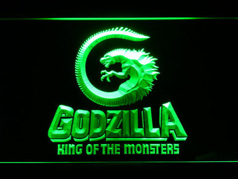 Image of Godzilla King of the Monsters LED Neon Sign - Green - SafeSpecial