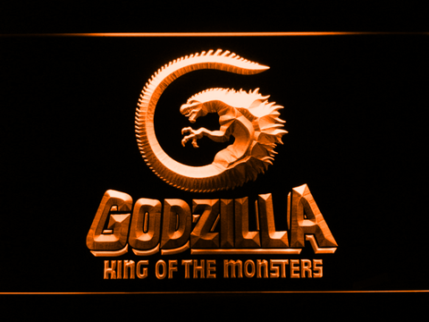 Image of Godzilla King of the Monsters LED Neon Sign - Orange - SafeSpecial