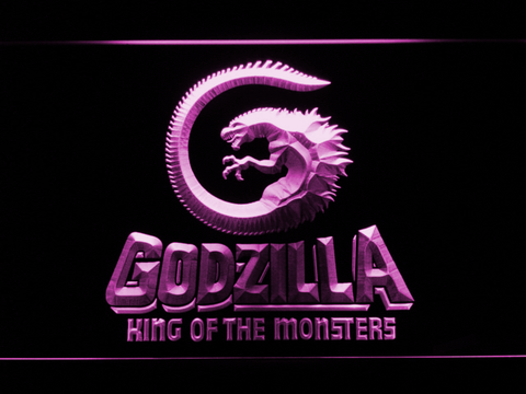 Image of Godzilla King of the Monsters LED Neon Sign - Purple - SafeSpecial