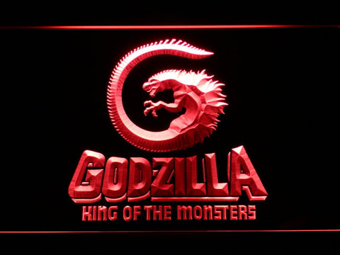 Image of Godzilla King of the Monsters LED Neon Sign - Red - SafeSpecial