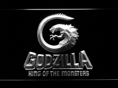 Godzilla King of the Monsters LED Neon Sign - White - SafeSpecial