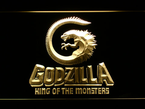 Image of Godzilla King of the Monsters LED Neon Sign - Yellow - SafeSpecial