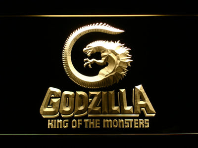 Godzilla King of the Monsters LED Neon Sign - Yellow - SafeSpecial
