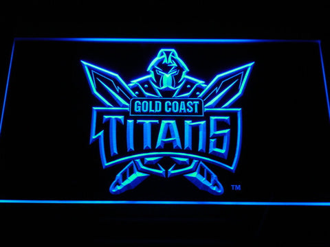 Image of Gold Coast Titans LED Neon Sign - Blue - SafeSpecial