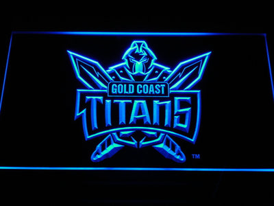 Gold Coast Titans LED Neon Sign - Blue - SafeSpecial