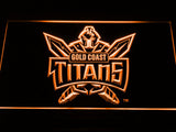Gold Coast Titans LED Neon Sign - Orange - SafeSpecial