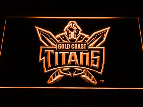 Image of Gold Coast Titans LED Neon Sign - Orange - SafeSpecial
