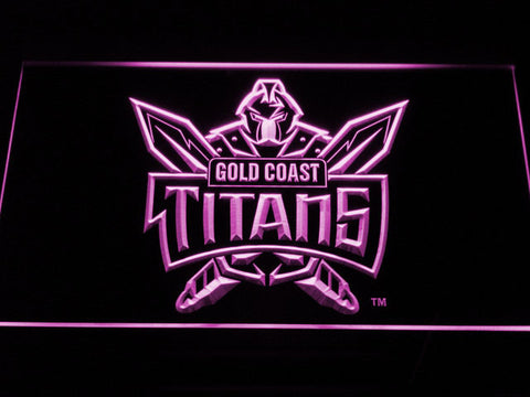 Gold Coast Titans LED Neon Sign - Purple - SafeSpecial