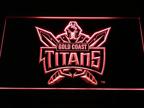 Gold Coast Titans LED Neon Sign - Red - SafeSpecial
