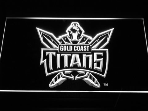 Image of Gold Coast Titans LED Neon Sign - White - SafeSpecial