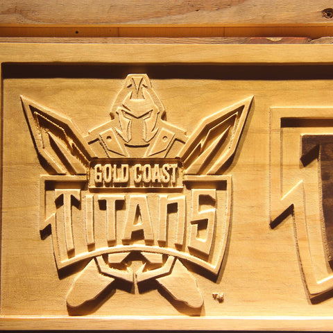 Image of Gold Coast Titans Wooden Sign - - SafeSpecial