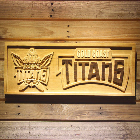 Image of Gold Coast Titans Wooden Sign - Small - SafeSpecial