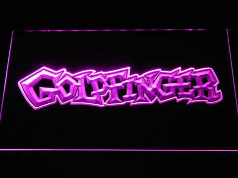 Image of Goldfinger LED Neon Sign - Purple - SafeSpecial