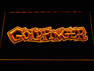 Goldfinger LED Neon Sign - Yellow - SafeSpecial