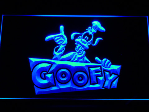 Image of Goofy LED Neon Sign - Blue - SafeSpecial