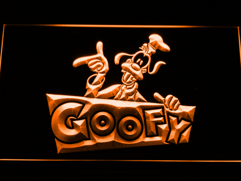 Image of Goofy LED Neon Sign - Orange - SafeSpecial