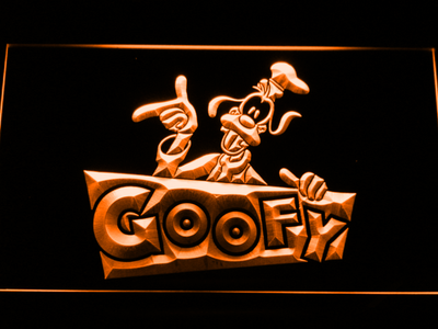 Goofy LED Neon Sign - Orange - SafeSpecial