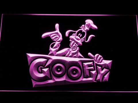 Image of Goofy LED Neon Sign - Purple - SafeSpecial