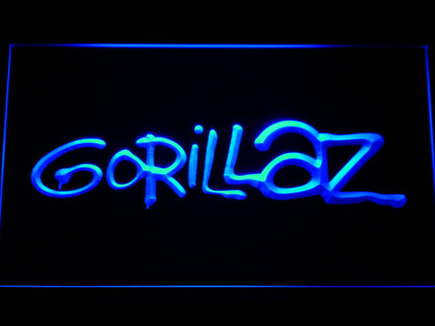 Gorillaz LED Neon Sign - Blue - SafeSpecial