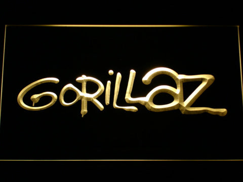 Gorillaz LED Neon Sign - Yellow - SafeSpecial