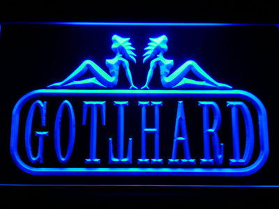 Gotthard LED Neon Sign - Blue - SafeSpecial