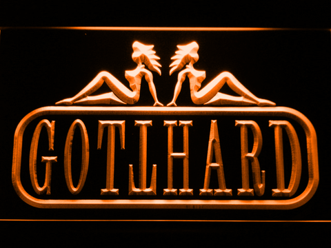 Image of Gotthard LED Neon Sign - Orange - SafeSpecial