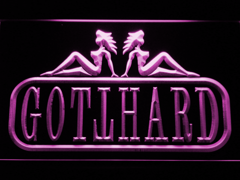 Image of Gotthard LED Neon Sign - Purple - SafeSpecial