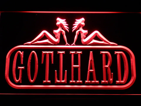 Image of Gotthard LED Neon Sign - Red - SafeSpecial