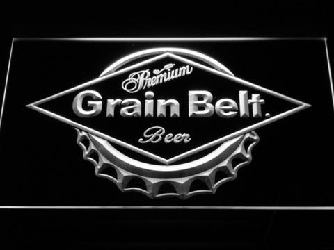 Image of Grain Belt LED Neon Sign - White - SafeSpecial