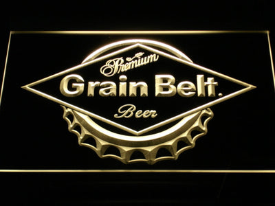Grain Belt LED Neon Sign - Yellow - SafeSpecial