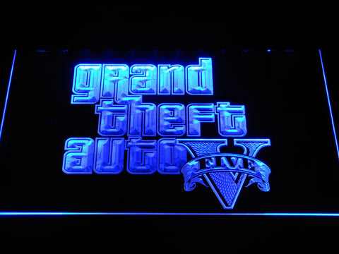 Image of Grand Theft Auto Five LED Neon Sign - Blue - SafeSpecial