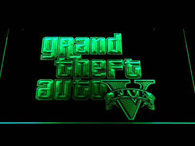 Grand Theft Auto Five LED Neon Sign - Green - SafeSpecial