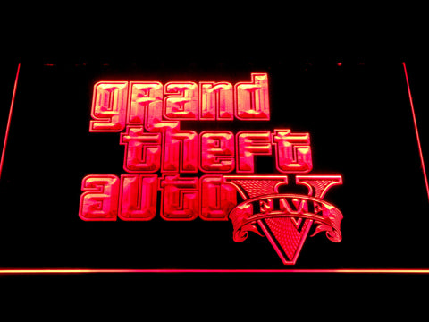 Image of Grand Theft Auto Five LED Neon Sign - Red - SafeSpecial