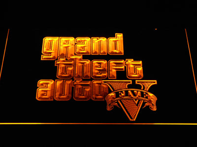 Grand Theft Auto Five LED Neon Sign - Yellow - SafeSpecial