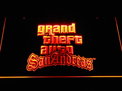 Grand Theft Auto San Andreas LED Neon Sign - Orange - SafeSpecial