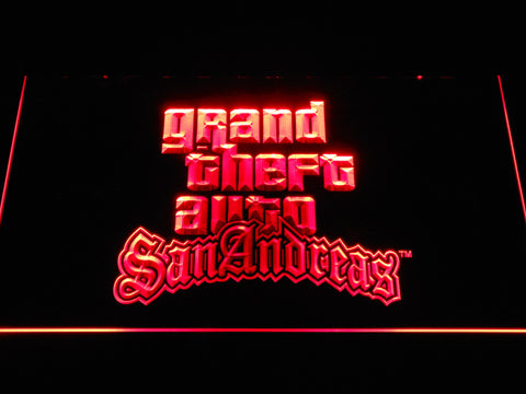 Image of Grand Theft Auto San Andreas LED Neon Sign - Red - SafeSpecial