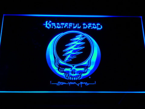 Grateful Dead LED Neon Sign - Blue - SafeSpecial