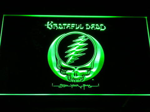 Grateful Dead LED Neon Sign - Green - SafeSpecial