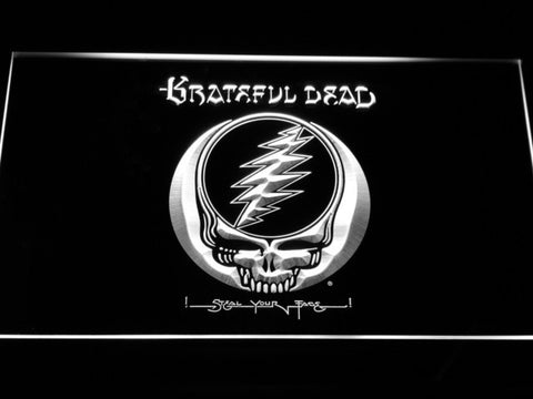 Grateful Dead LED Neon Sign - White - SafeSpecial