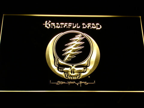 Grateful Dead LED Neon Sign - Yellow - SafeSpecial
